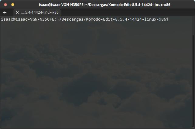 Instalando Komodo Edit paso 3