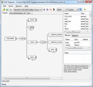 Captura de pantalla de XSDDiagram